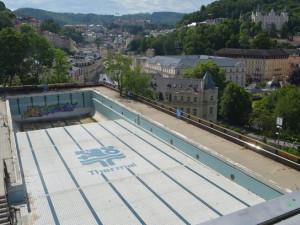 Hotel Thermal začal s rekonstrukcí bazénu, hotový má být do léta